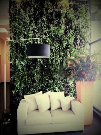 Entrance to hotel - The Living Wall - Great!!