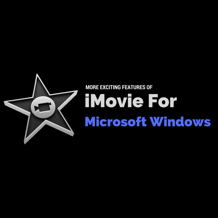 iMovie For Windows OS Features