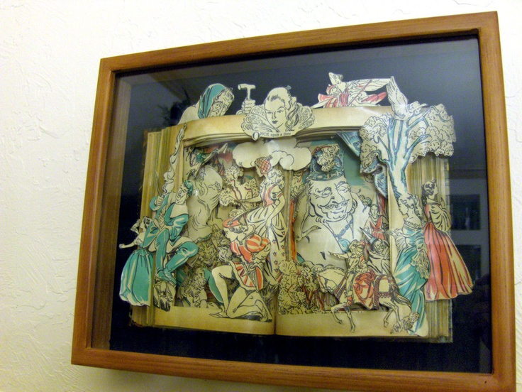 Once Upon A Time - One of a Kind Book Sculpture - Altered Book by Kelly Campbell