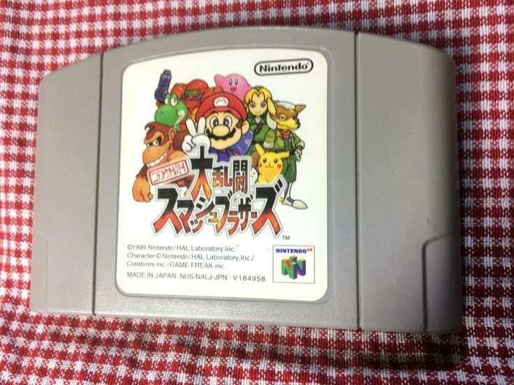 super smash bros nintendo 64 1999 japan import n64 tested nintendo