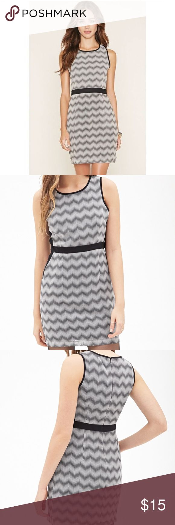 Colorblocked Chevron Print Dress Dress is brand new with tags, never worn before Forever 21 Dresses Mini