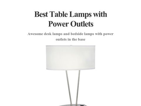 Brilliant Desk Lamp W 2 Power Outlets  Yelp