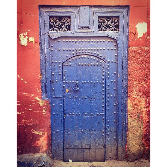 #marrakech #morroco #door #blue #brown #iloveit