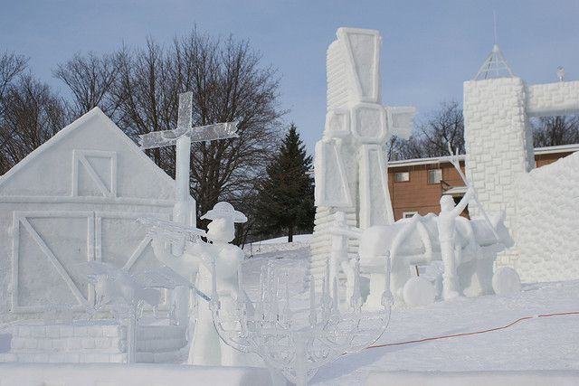 Michigan Tech Winter Carnival, Houghton, Michigan--AWESOME Ice Sculptures