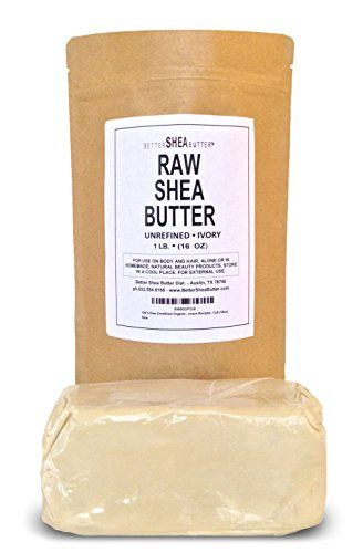 Unrefined Ivory Shea Butter by Better Shea Butter - For Dry, Delicate, Acne-Prone Skin, Eczema, , Stretch Marks - Use Alone or in Homemade Skincare Recipes - 1LB Packaged in Resealable Kraft Bag.