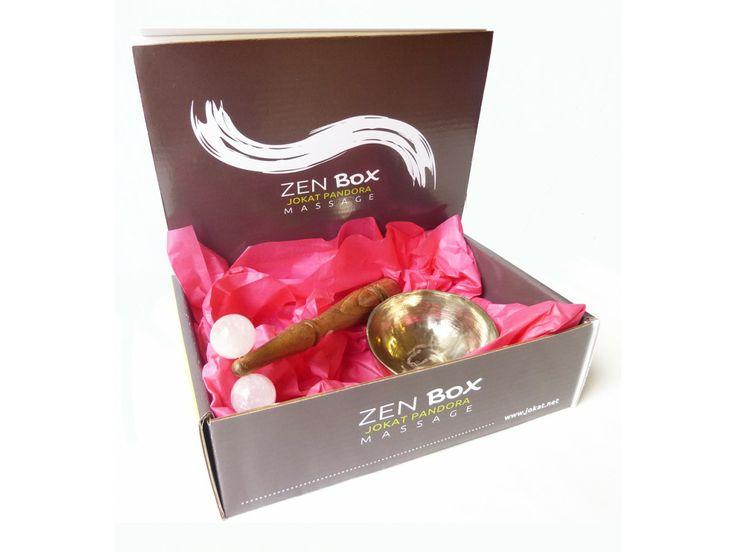Zen Box Massage 2 éléments : roulette en quartz rose et bol de massage Kansu #réflexologie #massage #ayurveda #kansu #inde #india