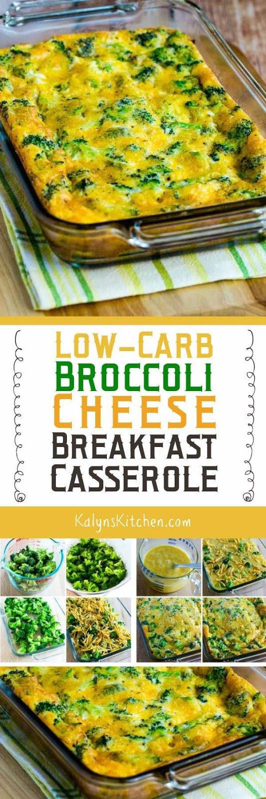 This tasty Low-Carb Broccoli Cheese Breakfast Casserole is one that I make over and over, and this delicious Meatless Monday breakfast idea is also Keto, low-glycemic, gluten-free and South Beach Diet Phase One! [found on KalynsKitchen.com]