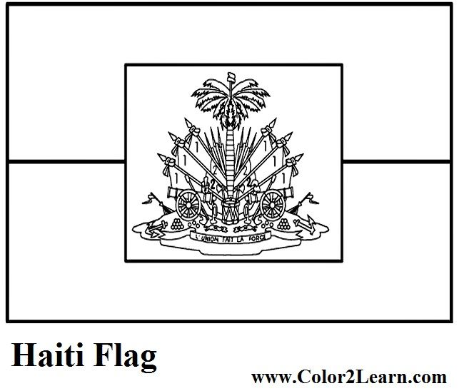 Haiti Flag And Map Coloring Pages Facts