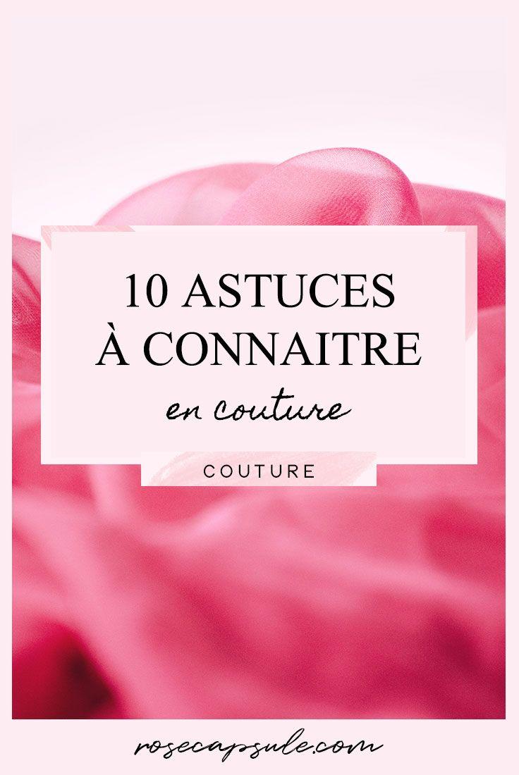 10 astuces à connaître en couture