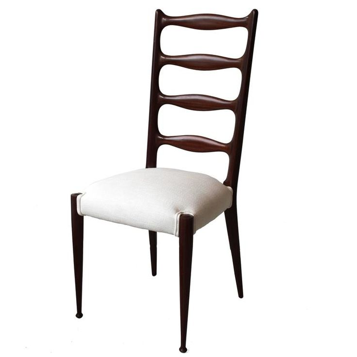 Set of six high back dining chairs by Paolo Buffa. Italian, 1950s | From a unique collection of antique and modern dining room chairs at https://www.1stdibs.com/furniture/seating/dining-room-chairs/