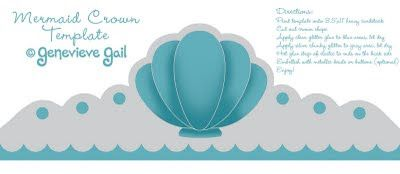 Genevieve Gail: GET YOUR CRAFT ON: Free Mermaid Crown Template for Halloween Costume