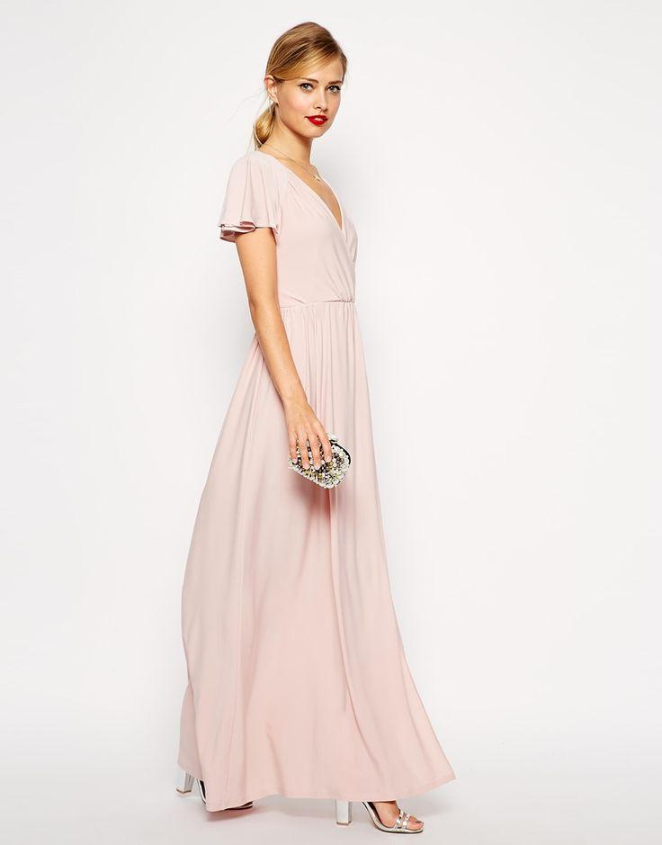 Blush Wedding Dress Petite : Blush bridesmaid dresses sleeves asos flutter