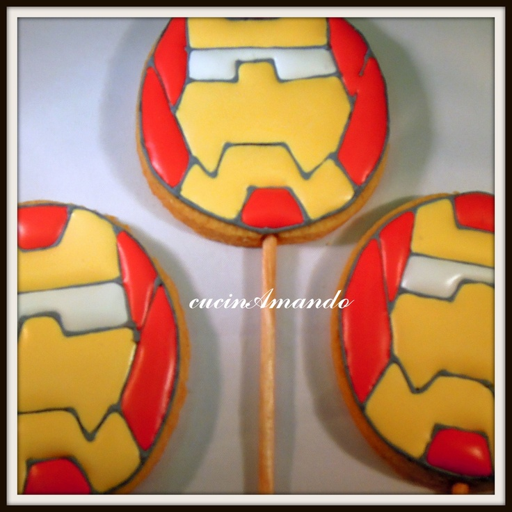 Iron man Cookie Pops