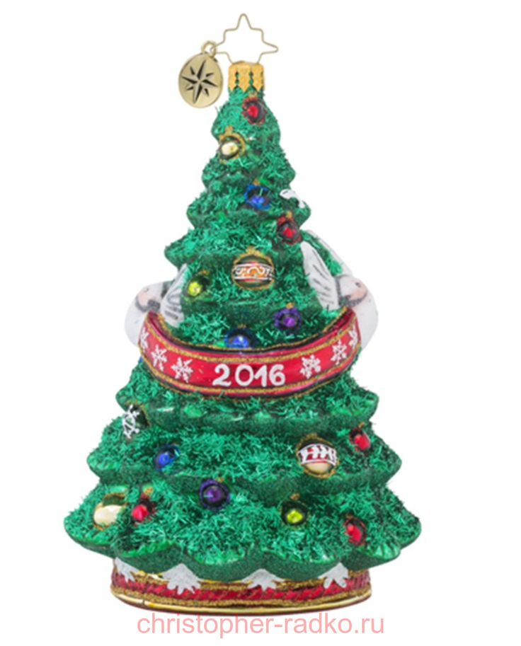 Ёлочная игрушка Елка 2016 арт.1018476