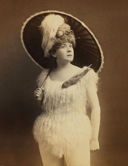 """Lydia Thompson. Born as Eliza Hodges Thompson in 1838, Lydia Thompson was an English dancer, comedian, actress and theatrical producer and is often most credited as being the first woman to perform anonstagetease.  After dancing and performing inpantomimesin Britain and then in Europe as a teenager in the 1850s, she became a leading dancer and actress inburlesqueson the London stage. She introduced Victorian burlesque to America with her troupe the """"British Blondes"""", in 1868."""
