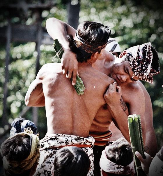 mekare-kare (pandan war) at Tenganan