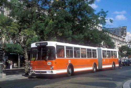 Lisbon City (Carris) Magirus Deutz articulated TB-10-39 (fleet No 924) in City of Lisbon, Portugal.