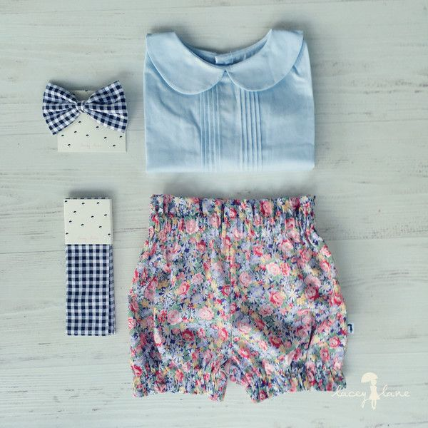 Lucy Bloomers by Lacey Lane  -100% cotton  -Handmande at Lacey Lane HQ, Brisbane Australia  -Floral Fabric  -Elastic back & legs   -Regular fit