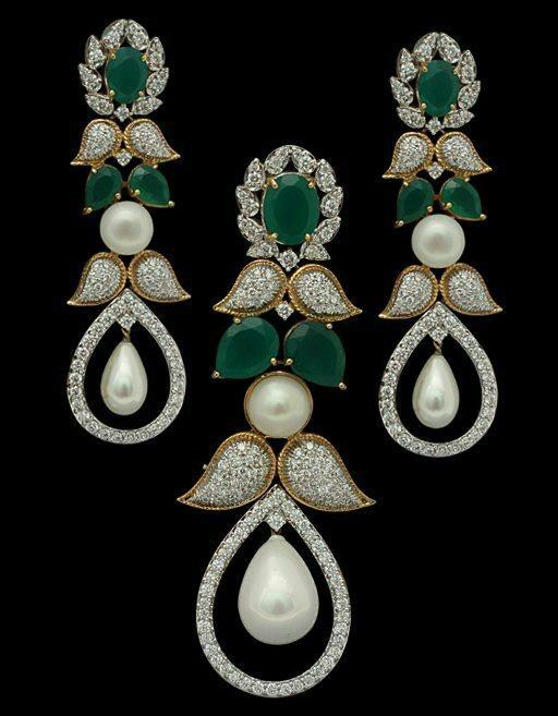 Diamonds, pearls & emeralds..
