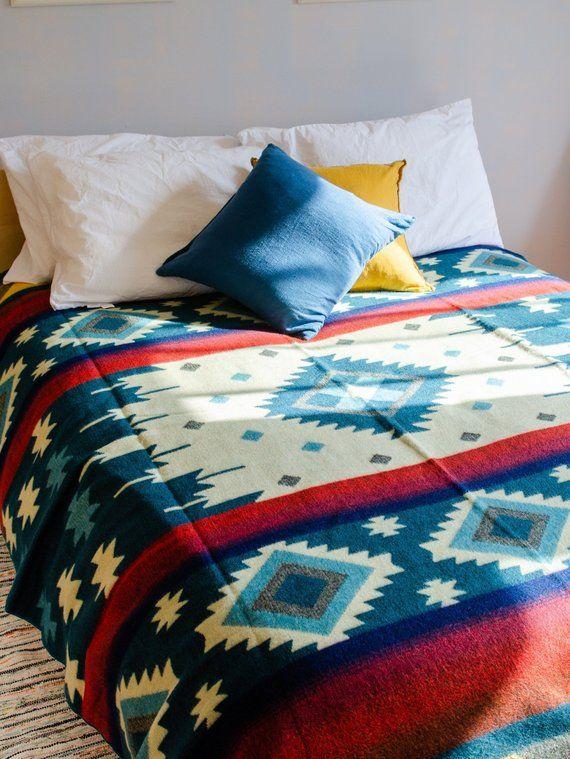 Alpaca Queen Blanket Wool Blanket Tribal Blanket Native Blanket Picnic Blanket Boho Throw Blanket Woven Blanket Southwestern Alpaca Blanket Blanket Queen Size Blanket