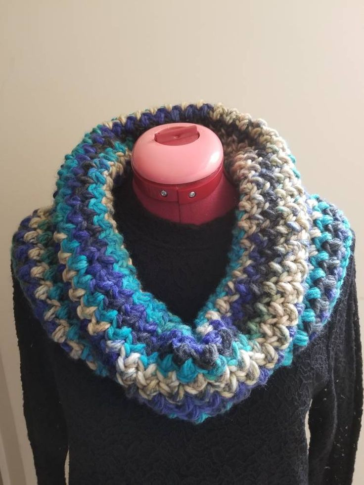 Cyber Monday! Sale! Cowl, Infinity Scarf, Crochet Scarf, Handmade Scarf, Gift for Her, Neck Warmer by AlinaHera on Etsy