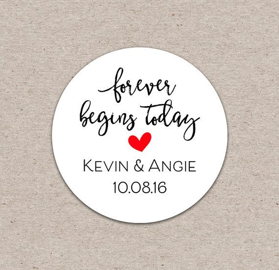 50 Count Personalized Stickers  Wedding Favor by KraftStash