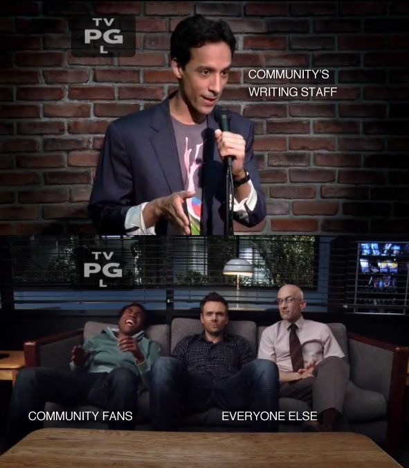 ...yea that's how I feel about Community.