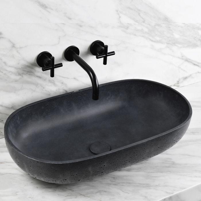 vasque ovale a poser 65x35xh15 cm