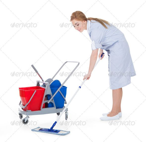 Female Maid Cleaning Floor ...  adult, attractive, background, beautiful, blonde, broom, clean, cleaner, cleaning, copyspace, equipment, female, floor, hair, holding, hotel, household, housekeeper, housekeeping, housework, hygiene, isolated, janitor, job, lady, maid, manual, modern, mop, object, occupation, one, people, person, plastic, portrait, positive, professional, routine, service, smile, standing, studio, trolley, uniform, white, woman, work, worker, young