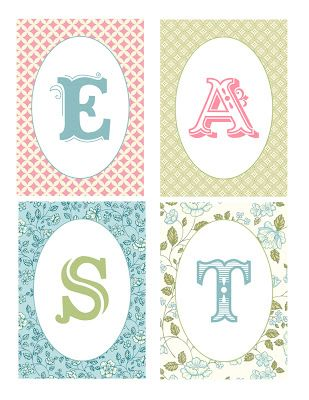 Free Easter banner printable, by Erica Shaw, designed using My Digital Studio.