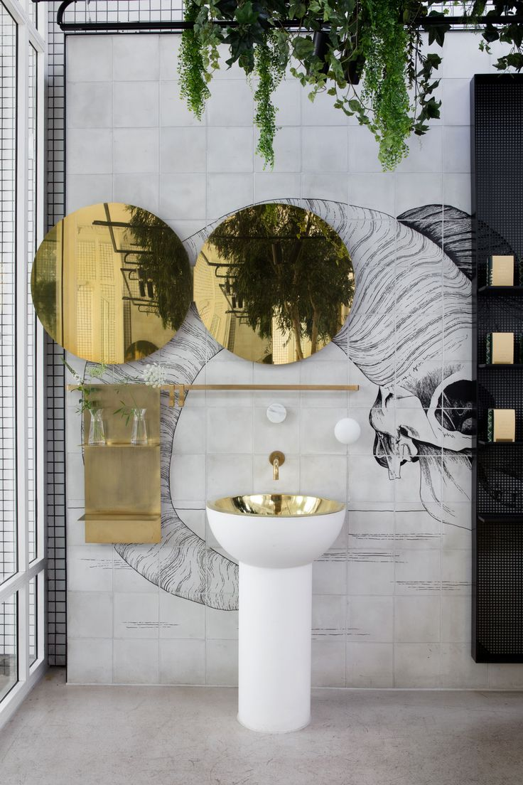 Redroaster Cafe in London, UK by The Stella Collective | Yellowtrace | #bathroom