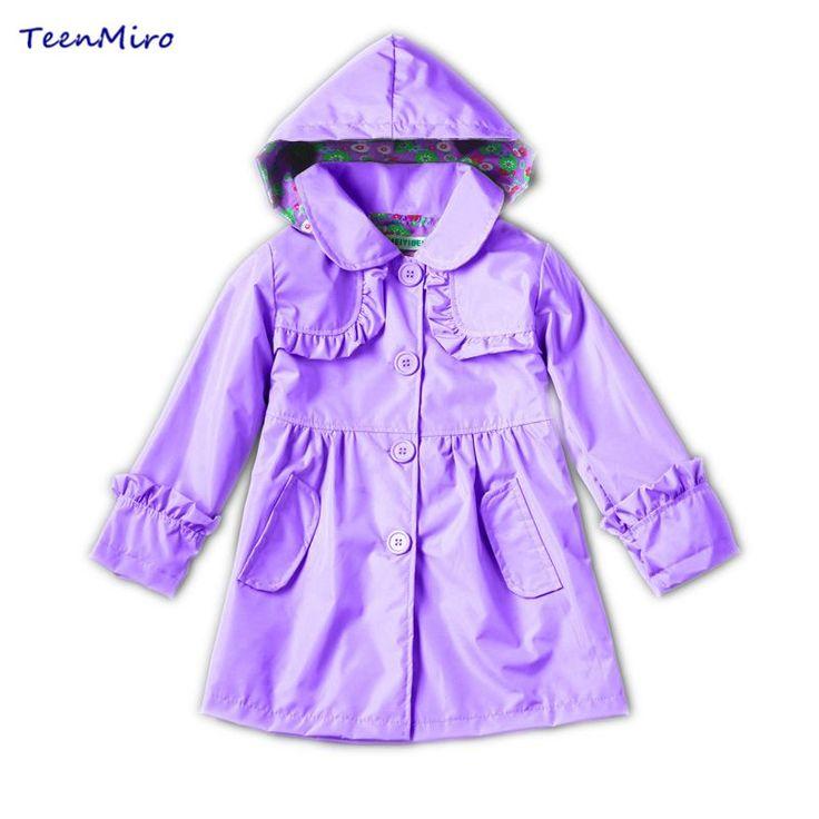 >> Click to Buy << Kids Clothing Children Jacket Girl Windbreaker Baby Raincoat Girls Long Hooded Blazer Waterproof Windproof Spring Autumn Clothes #Affiliate