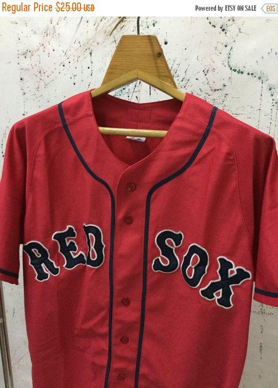 Navidad Venta 15% Vintage Red Sox MLB béisbol por FindStuffShop