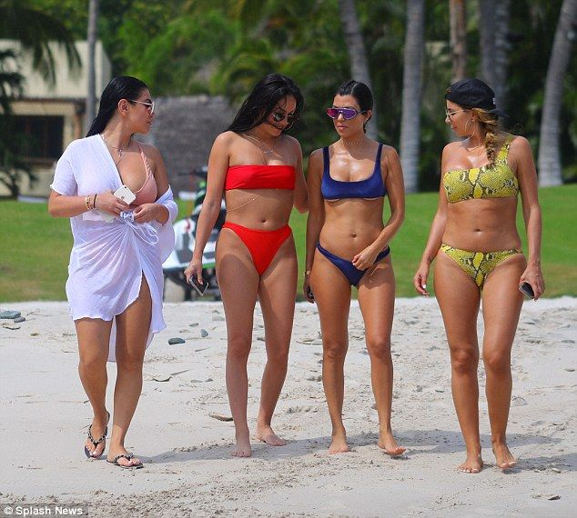 Fantastic four: She was joined by a few of her gal pals including Larsa Pippen (far right)...