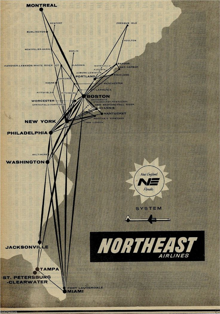 Vintage Ads Northeast Airlines