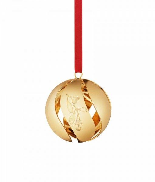 Georg Jensen Weihnachten 2015 gold Baumkugel