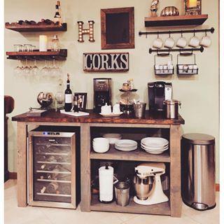 DIY Coffee/WIne Bar, YES! Dining Room Tutorials