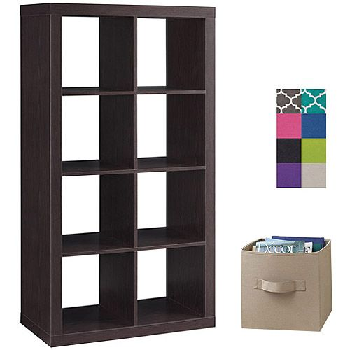 Better Homes And Gardens 8 Cube Organizer With 8 Collapsible Fabric Storage Cubes Mix And Match
