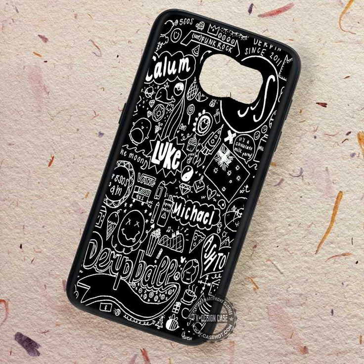 Black Fan Art Collage 5sos - Samsung Galaxy S7 S6 S5 Note 7 Cases & Covers