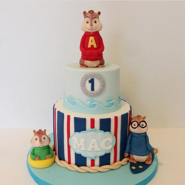 "Jessica Edwards on Instagram: ""An Alvin and the Chipmunks: Chipwrecked cake for…"