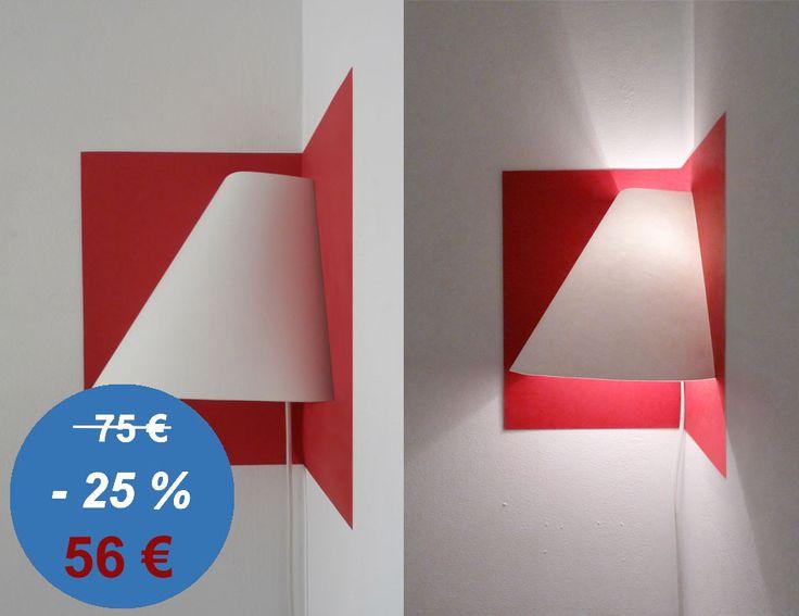 Lampe d\'angle Soldes / Luminaire gain de place / Pop-up par Well Well Designers / Design ludique, astucieux et poétique à petit prix !
