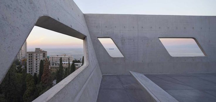 Issam Fares Institute in Beirut by Zaha Hadid http://www.morfae.com/issam-fares-institute-in-beirut-by-zaha-hadid/ #architecture #zahahadid #beirut #concrete #modern #icon