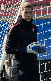 Hope Solo USA Training
