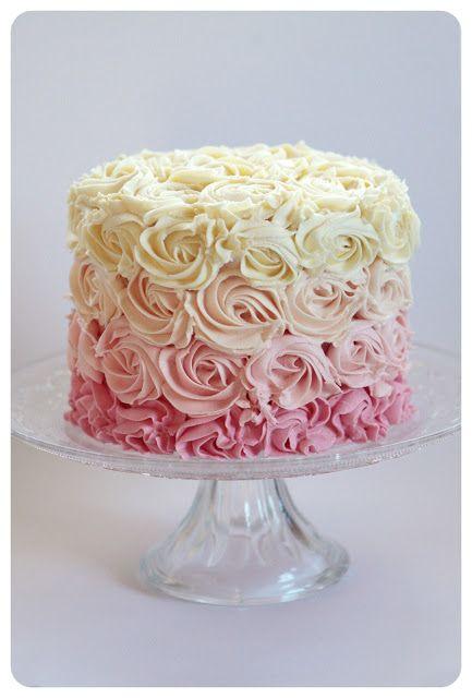Ombre Rossette Cake something like sugar blog