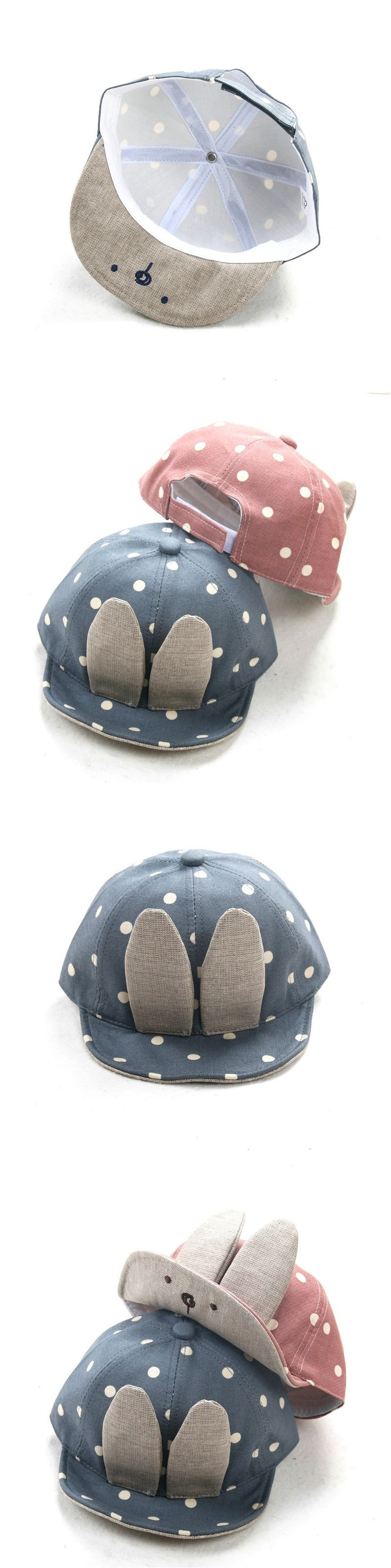 Baby Caps New Girl Boys Cap Summer Hats For Boy Cute Infant Sun Hat With Ear Sunscreen Dot Baby Girl Hat Spring Baby Accessories