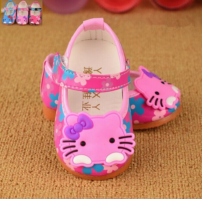 Baby girl Hello Kitty shoes with flowers $7.90 from Aliexpress