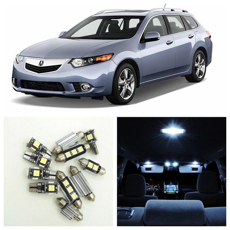 12pcs Super White Car LED Light Bulbs Interior Package Kit