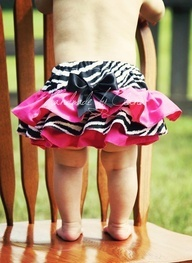 Zebra and Hot Pink Pink Ruffle bottoms I want a little girl