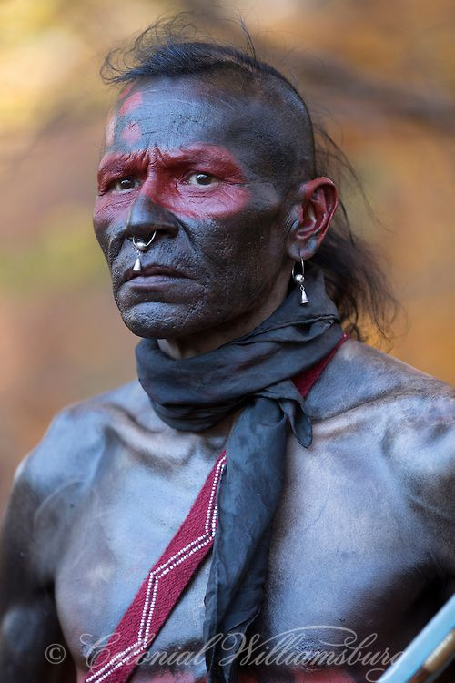 A Shawnee Indian warrior. Photo by David M. Doody. Copyright 2013 The Colonial Williamsburg Foundation.