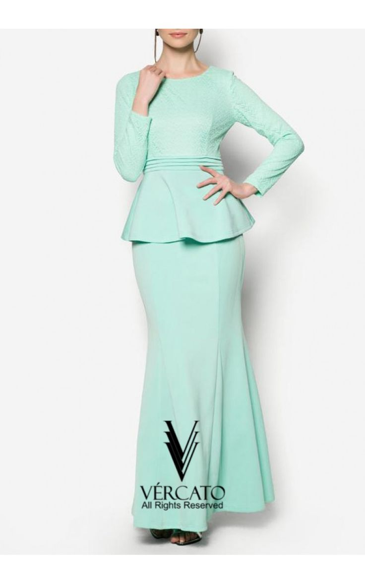 VERCATO channels their modern take of the traditional baju kurung by transforming it into a two-piece beauty. We love the peplum addition of the laced top that proffers a gorgeous contrast to the sleek and flowy skirt      SHOP here: www.vercato.com